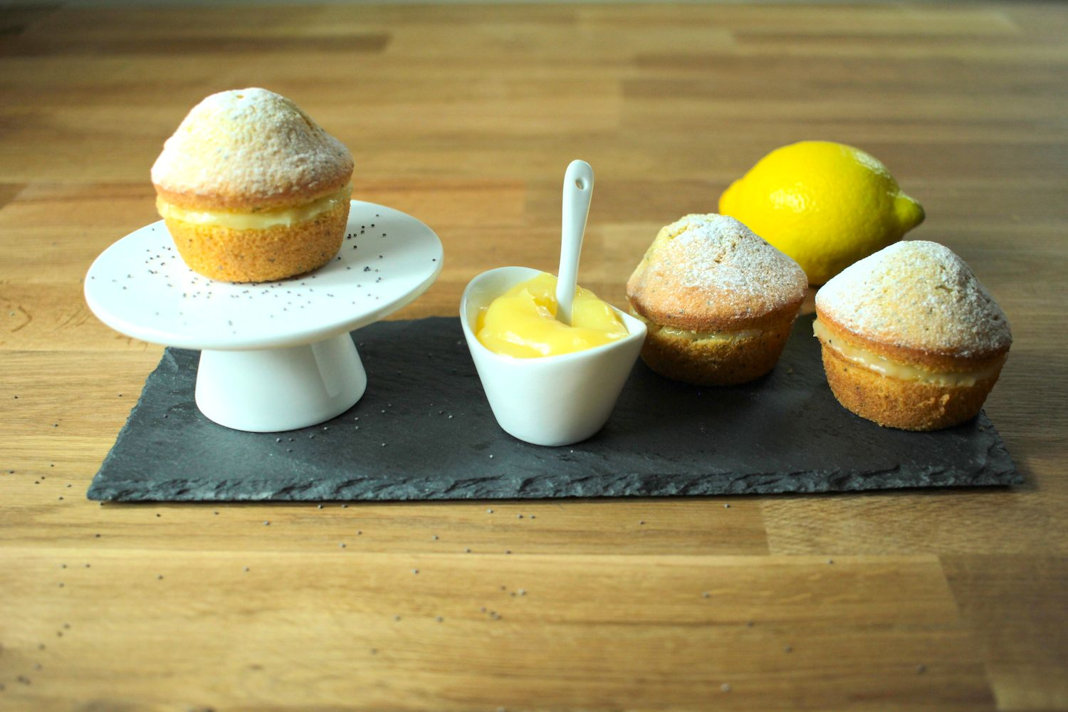 Mini Lemon and Poppy Seed Cakes Recipe - Globe Scoffers | globescoffers.com