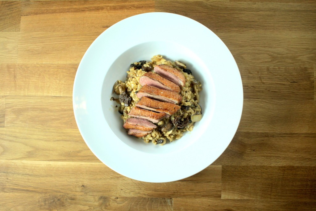 Duck with Wild Mushroom Risotto