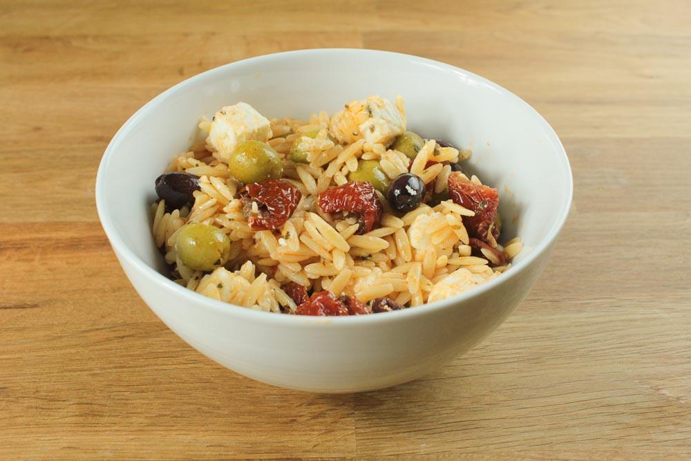 Orzo Pasta Salad Recipe - Globe Scoffers | globescoffers.com