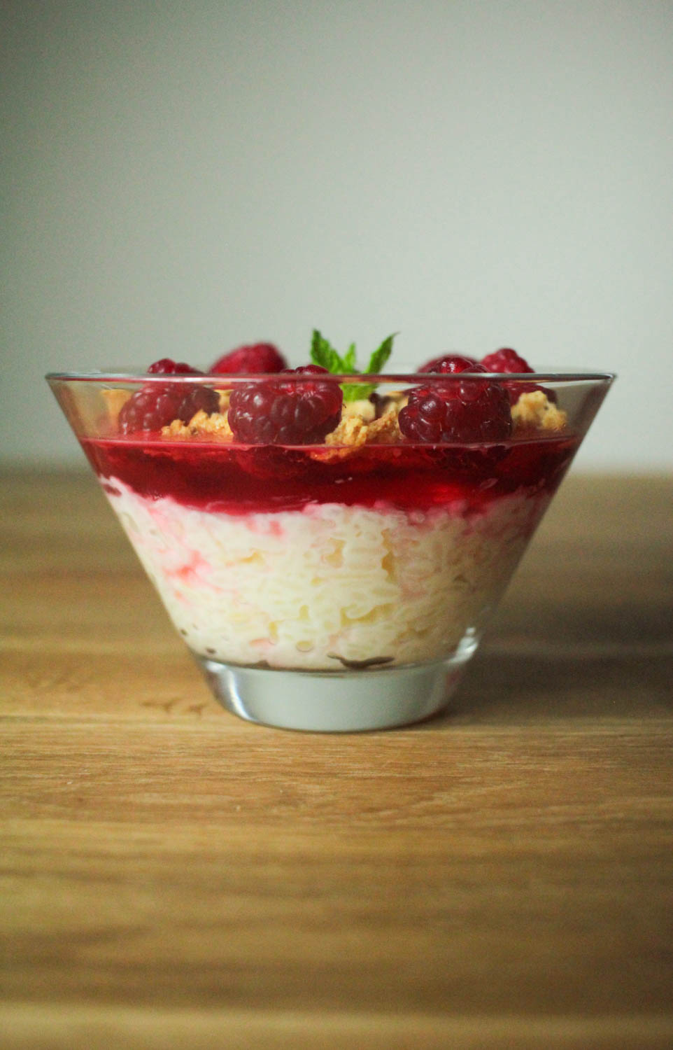 Raspberry and Almond Summer Rice Pudding