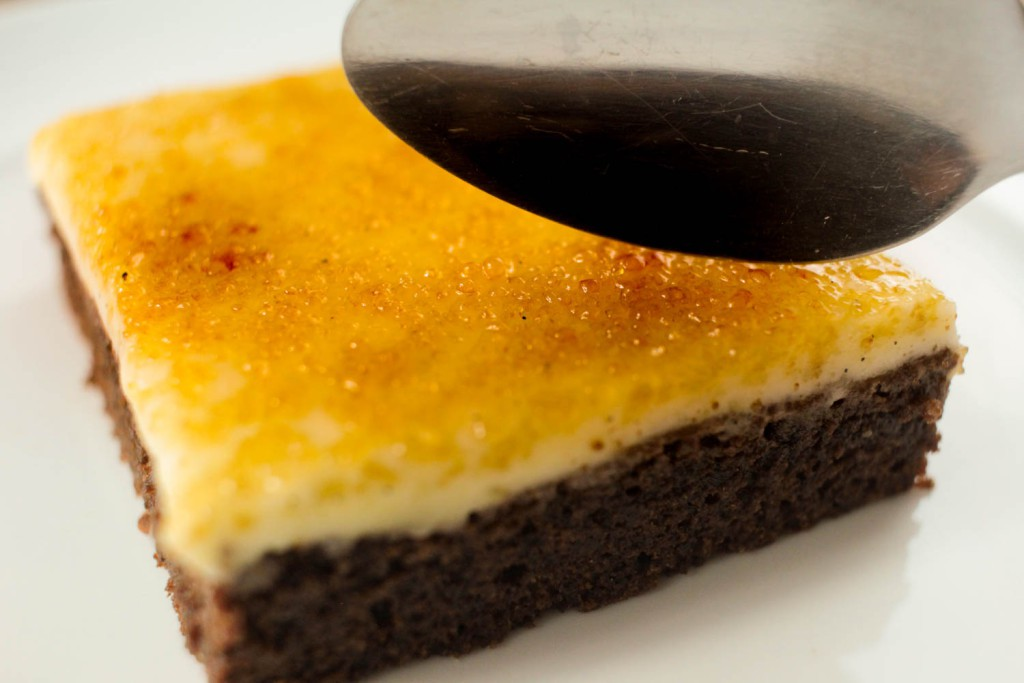 Creme Brulee Brownies with Spoon