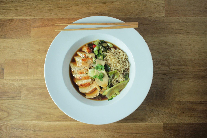Chicken and Wild Mushroom Ramen Recipe - Globe Scoffers | globescoffers.com