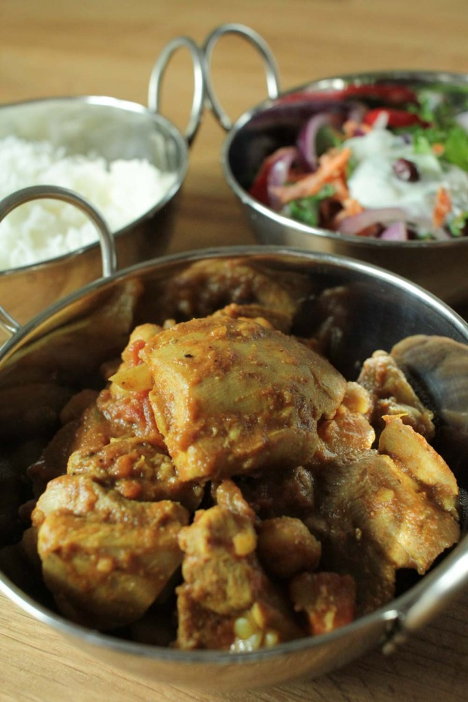 Chicken and Chickpea Curry with Indian Slaw-5