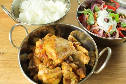 Chicken and Chickpea Curry with Indian Slaw