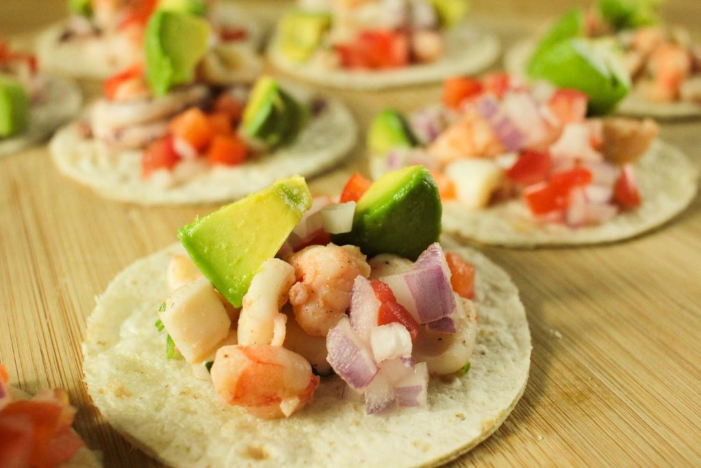 Prawn and Squid Soft Tacos