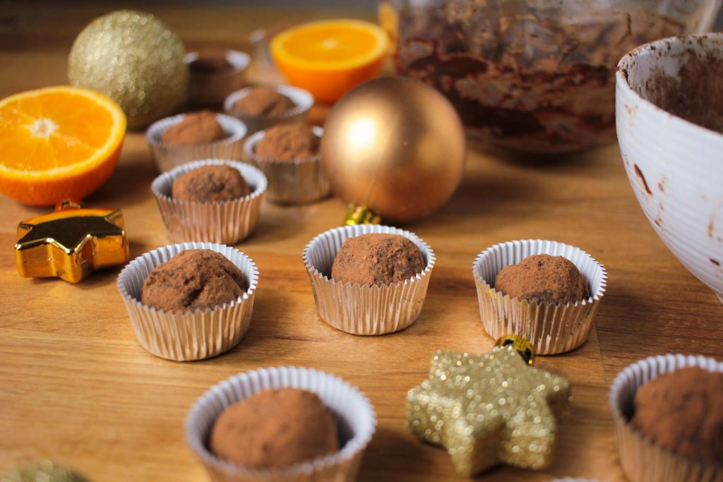 Dark Chocolate Orange Christmas Truffles