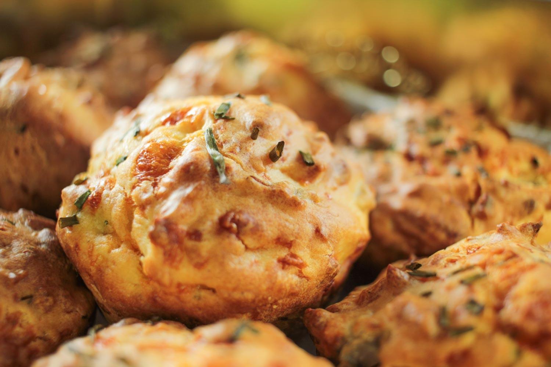 Three Cheese and Red Onion Muffins Recipe - Globe Scoffers | globescoffers.com