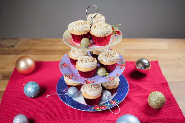 These cupcakes are the taste of Christmas. They also contain a gooey surprise in the middle to make them even more delicious!
