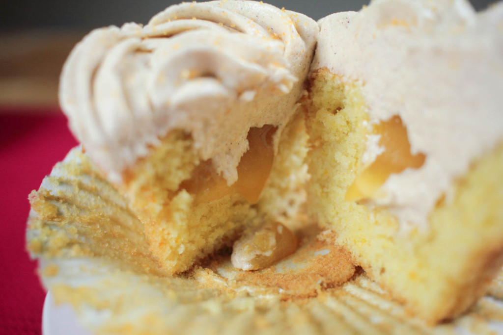 Orange Cupcakes with Cinnamon Frosting