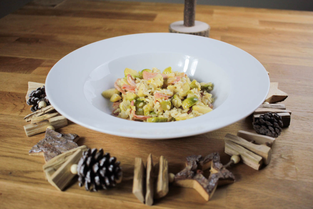 Do you love sprouts? If so then you must try this sprout and bacon risotto, it's a perfect way to use them up this Christmas!