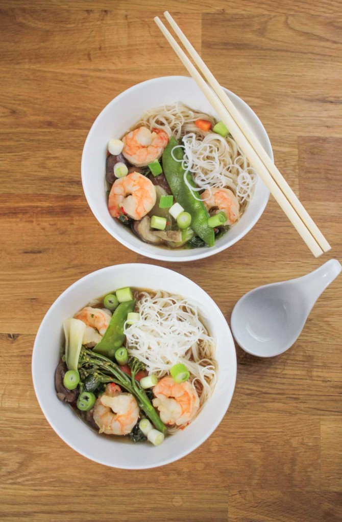 Prawn and Vegetable Ramen recipe