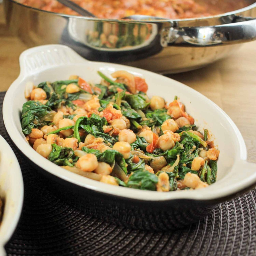 Spicy Chickpeas and Spinach-1