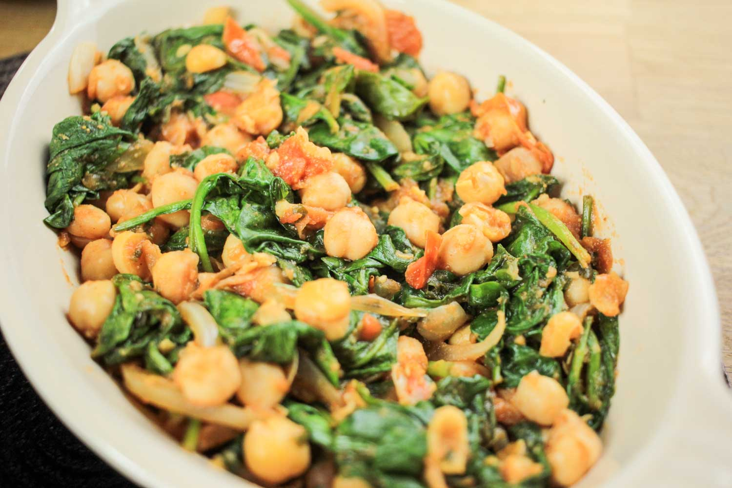 spinach is great to and goes really well with chickpeas and very low ...
