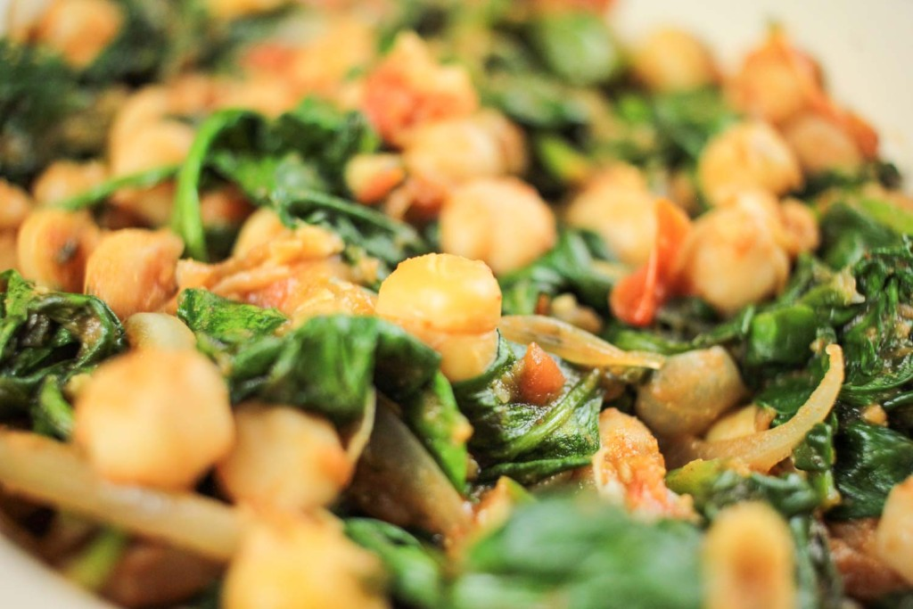 Spicy Chickpeas and Spinach