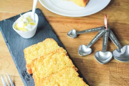 Lemon Drizzle Polenta Loaf Cake-2