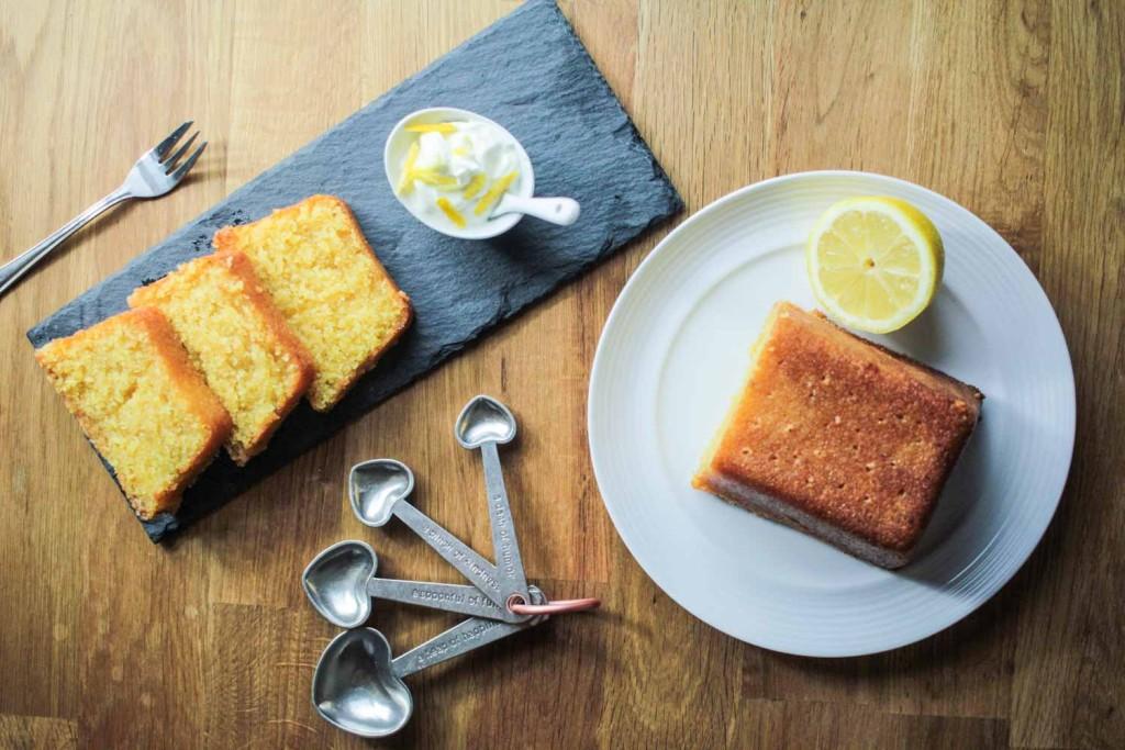 Lemon Drizzle Polenta Loaf Cake-5