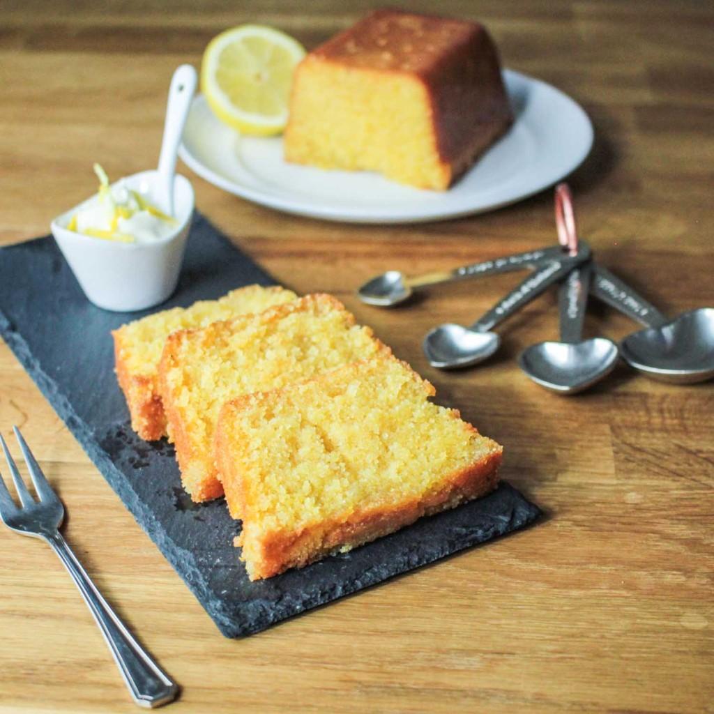Lemon Drizzle Polenta Loaf Cake-6