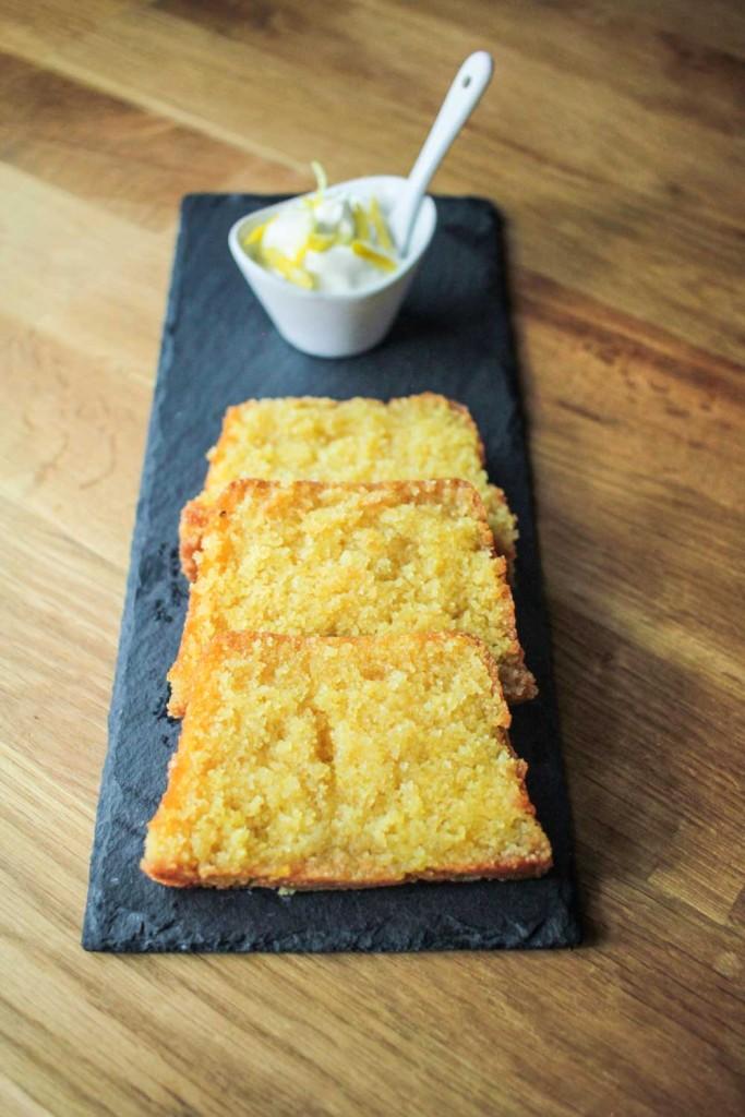 Lemon Drizzle Polenta Loaf Cake