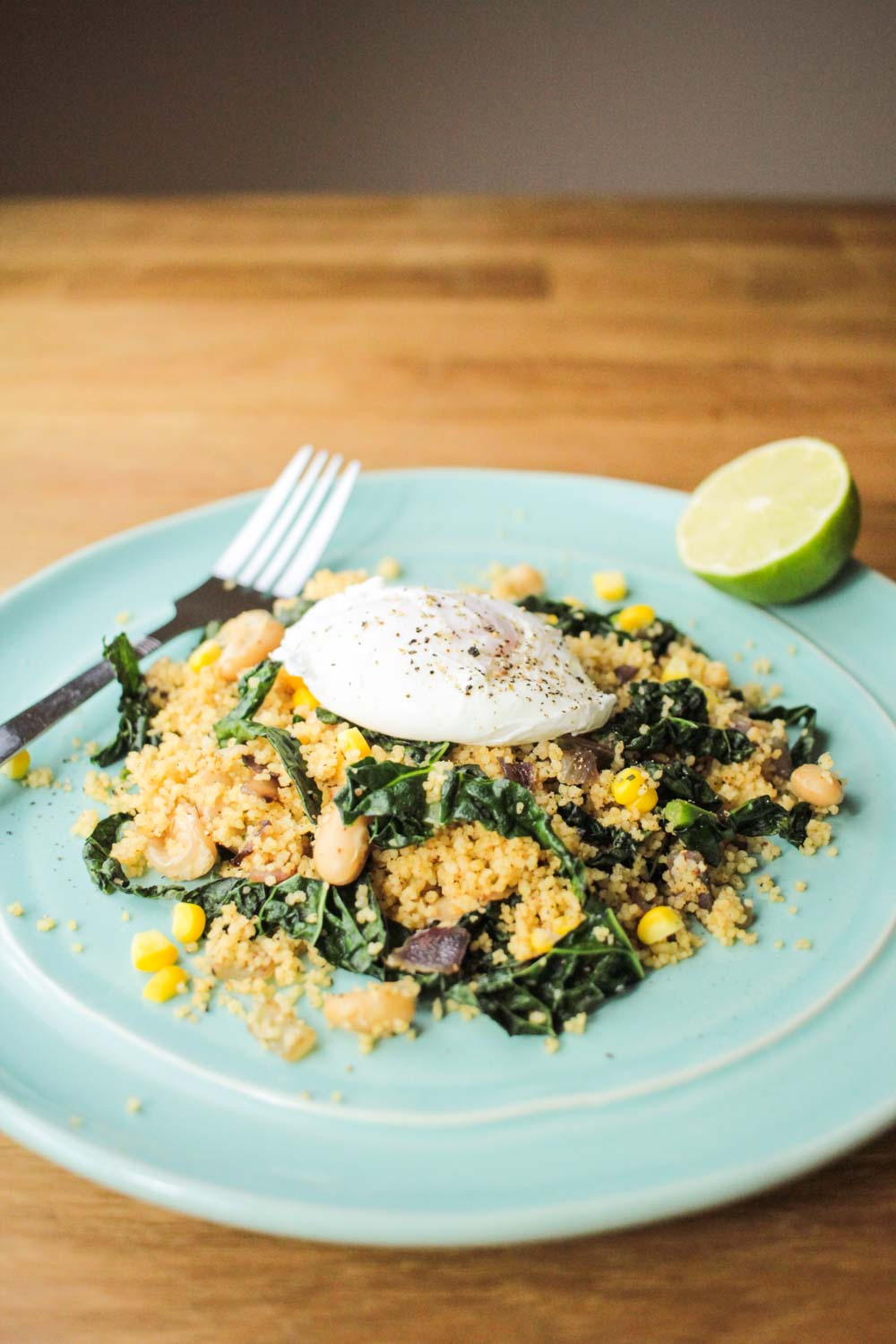 Fragrant Couscous Salad with a Runny Poach Egg-2 - Globe Scoffers | globescoffers.com