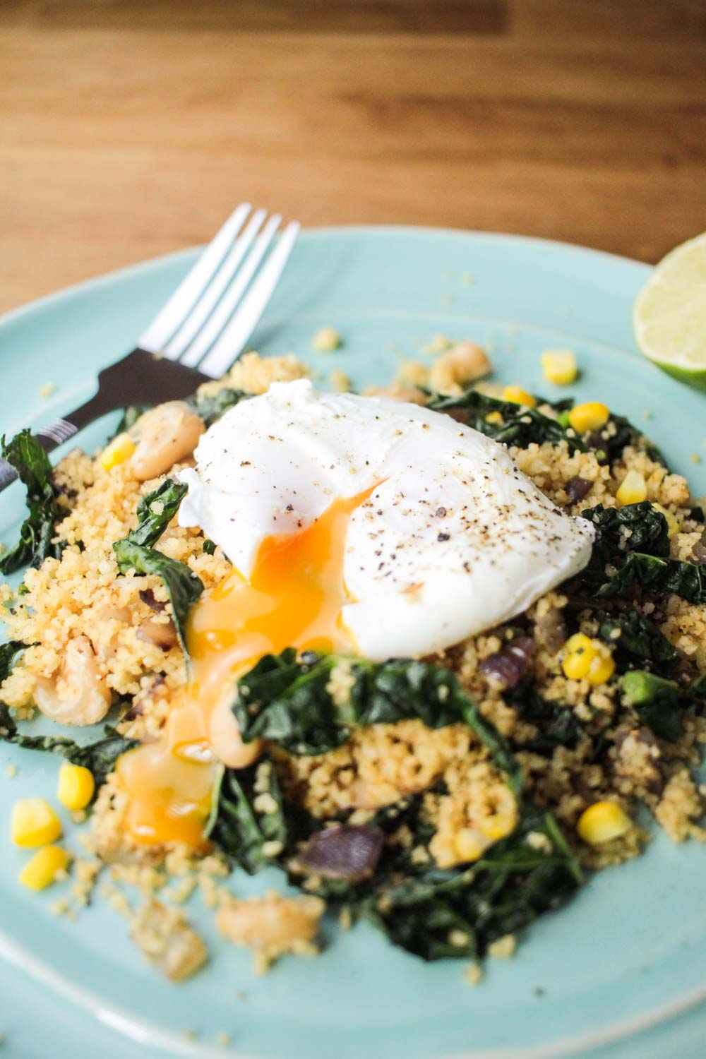 Fragrant Couscous Salad with a Runny Poached Egg Recipe - Globe Scoffers | globescoffers.com