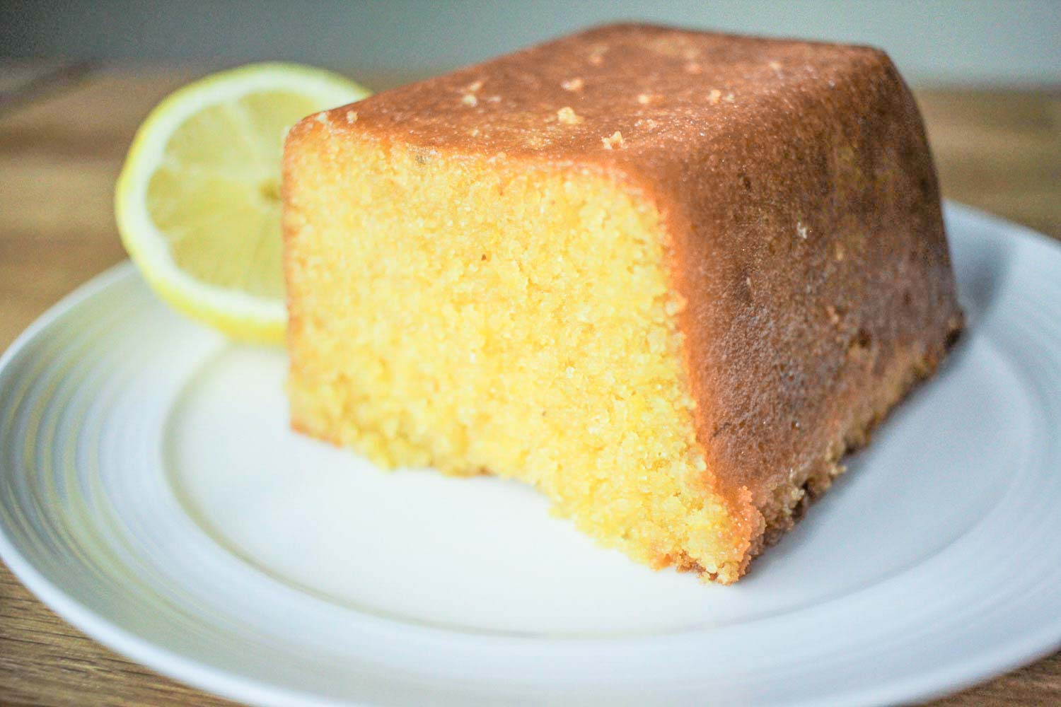 Lemon Polenta Loaf Cake