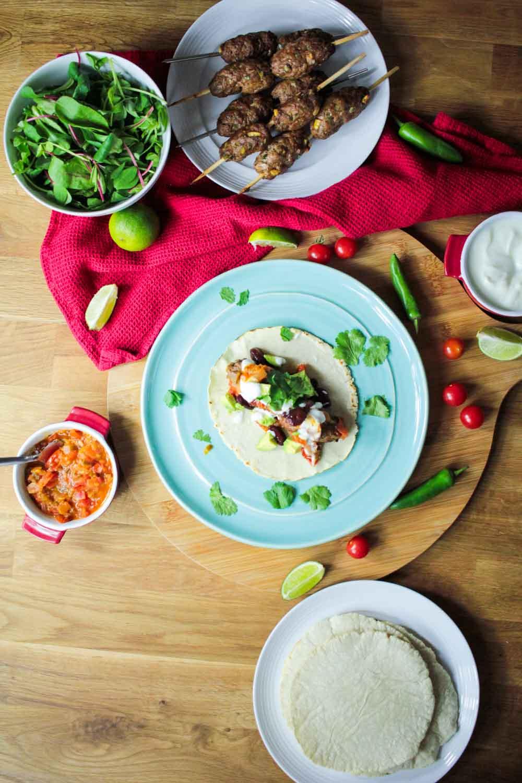 Lamb Kofta Tacos Recipe - Globe Scoffers | globescoffers.com