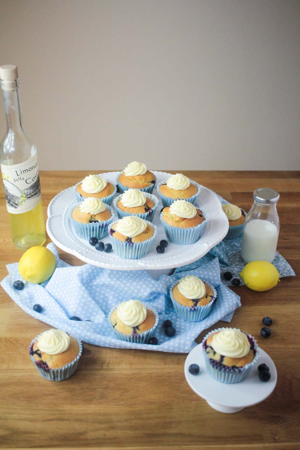 Blueberry and Lemon Muffins with a Limoncello Frosting-4 - Globe Scoffers | globescoffers.com