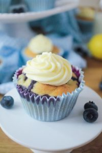 Lemon Muffins with a Limoncello Frosting