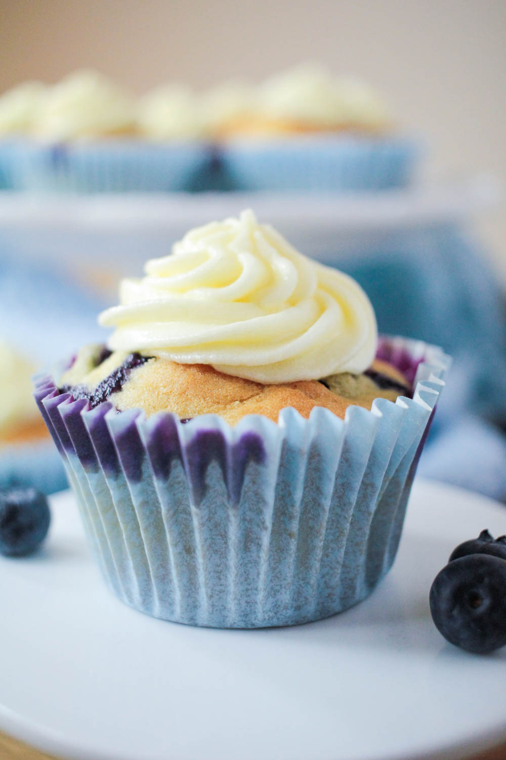 Blueberry and Lemon Muffins with a Limoncello Frosting-7 - Globe Scoffers | globescoffers.com