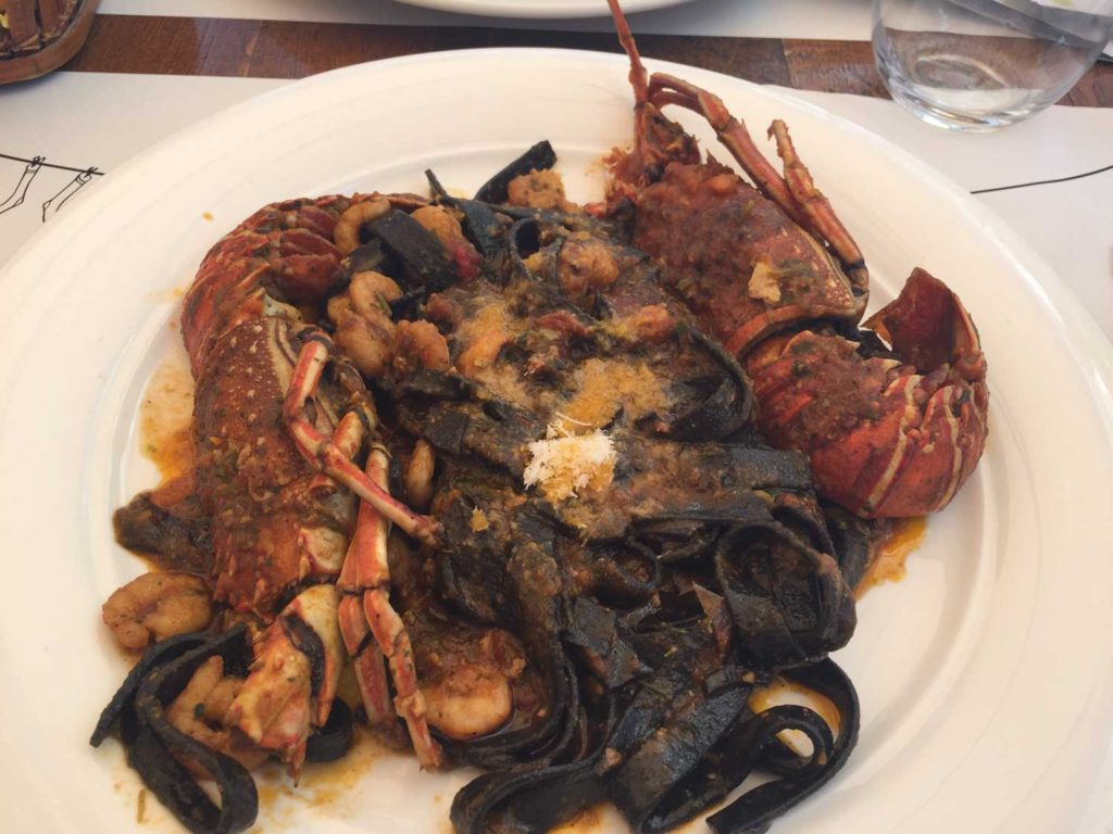 Lobster with black pasta. This dish was that delicious Dean and I went back and ordered it again!