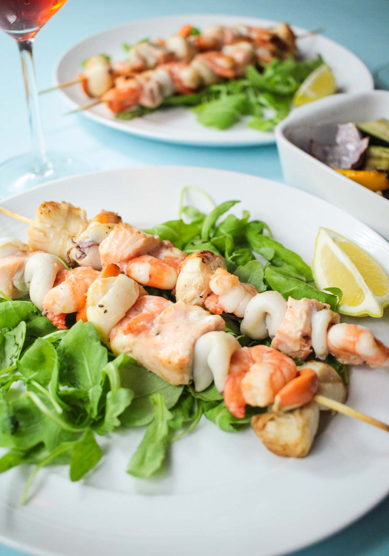 Seafood skewers - Globe Scoffers | globescoffers.com