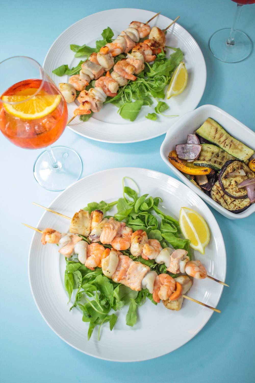 Seafood skewers -6 - Globe Scoffers | globescoffers.com