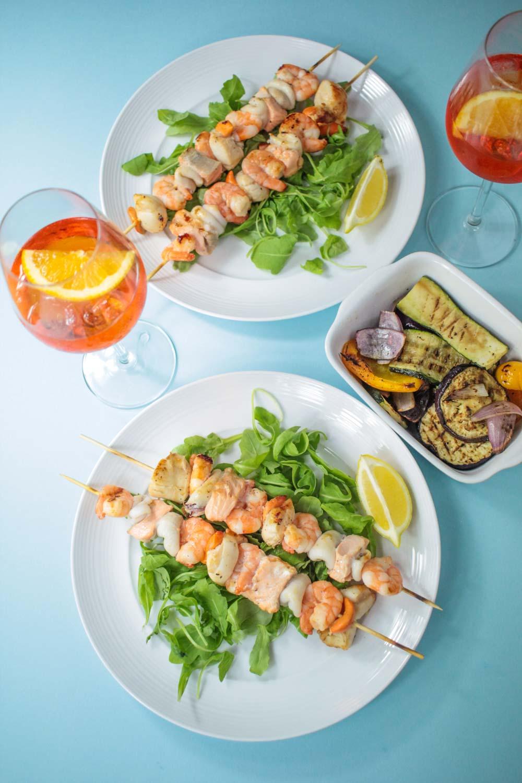 Seafood Skewers Recipe - Globe Scoffers   globescoffers.com