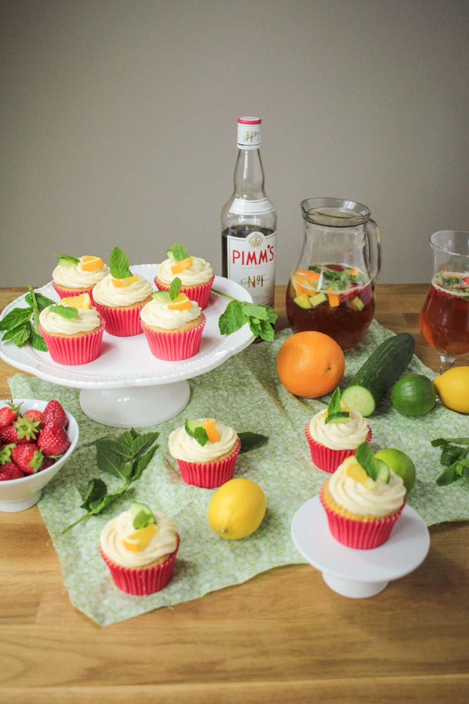 Pimm's Cupcakes-10 - Globe Scoffers | globescoffers.com