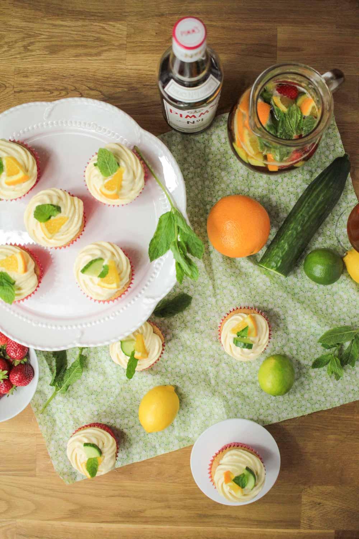 Pimm's Cupcakes-11 - Globe Scoffers | globescoffers.com