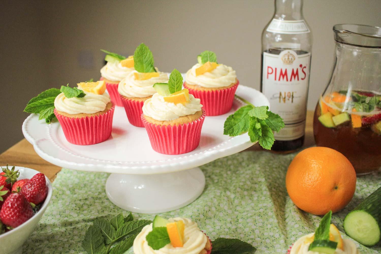 Pimm's Cupcakes-4 - Globe Scoffers | globescoffers.com