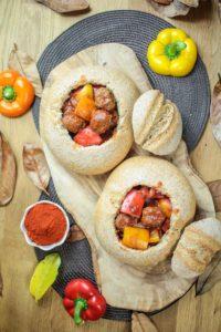 Meatball Goulash Bread Bowls
