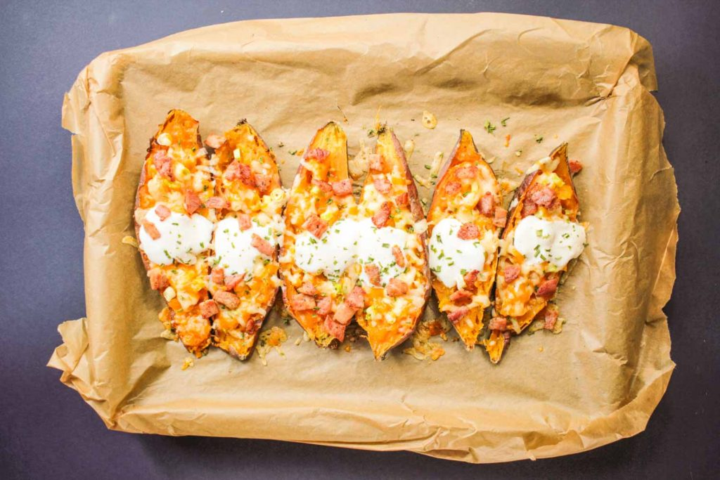 Stuffed Sweet Potato Boats