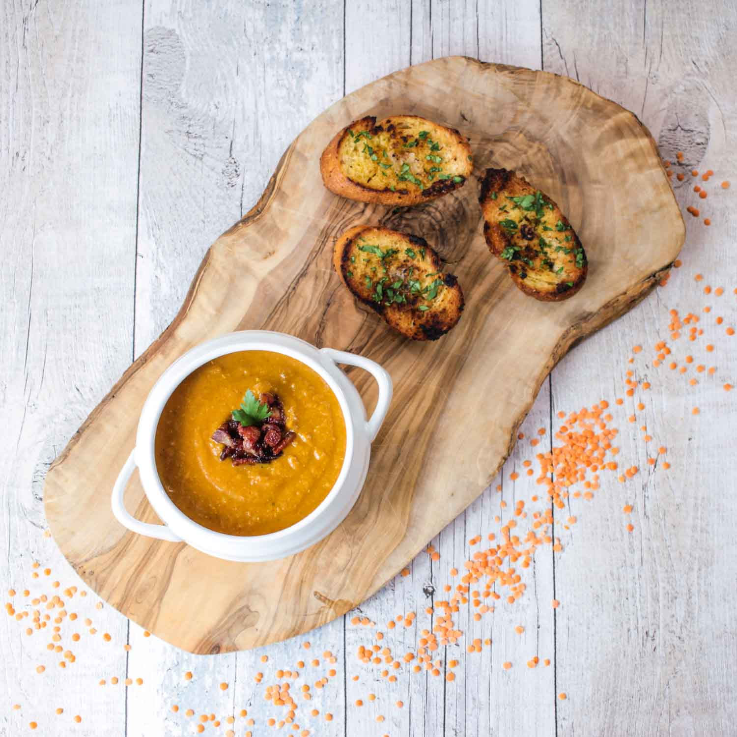 spiced-red-lentil-and-bacon-soup-1 - Globe Scoffers | globescoffers.com