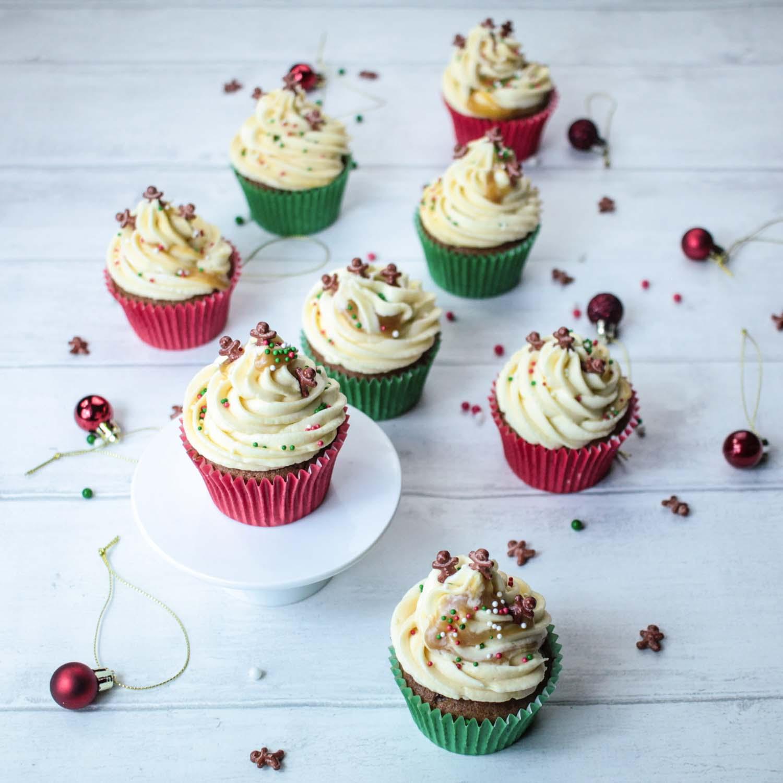sticky-ginger-christmas-cupcakes-7 - Globe Scoffers   globescoffers.com