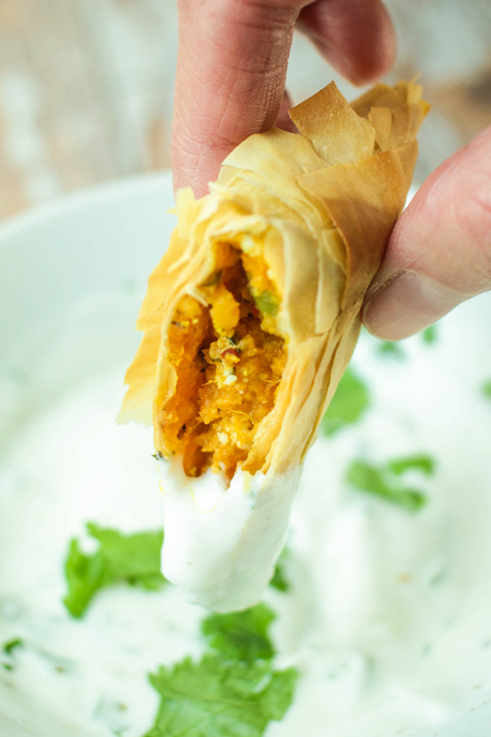 Sweet Potato and Goats Cheese Samosas Recipe - Globe Scoffers | globescoffers.com