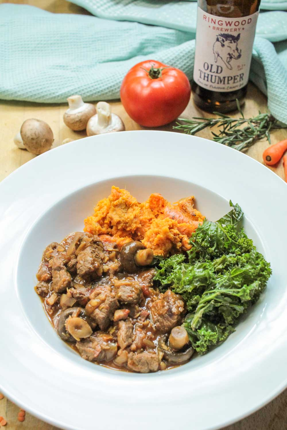 Beef and Ale Stew with Red Lentils Recipe - Globe Scoffers | globescoffers.com