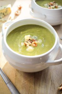 Broccoli and Stilton Soup with Walnuts