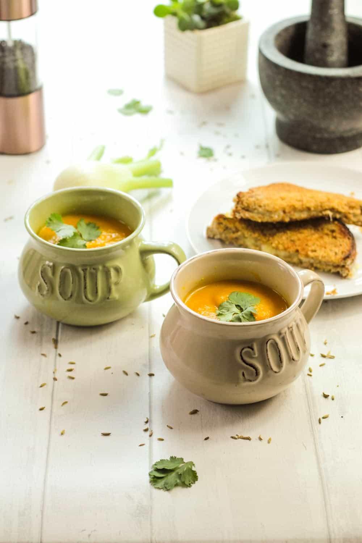 Carrot and Fennel Soup-1 - Globe Scoffers | globescoffers.com