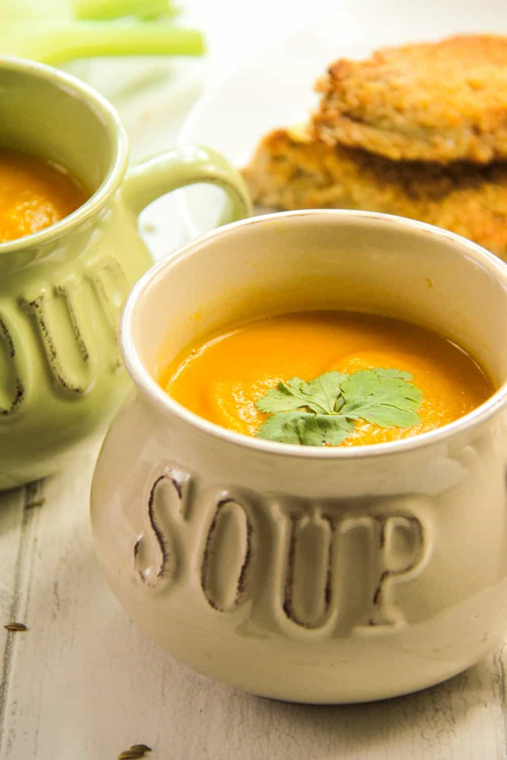 Carrot and fennel soup