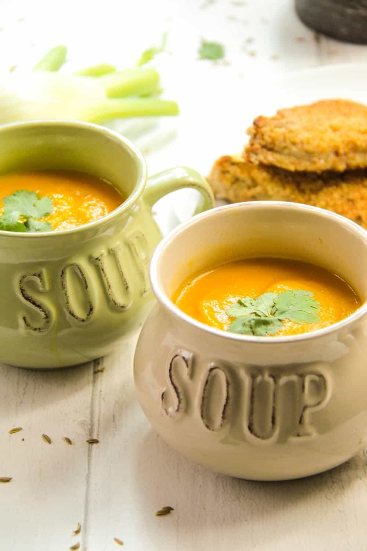 Carrot and Fennel Soup-5 - Globe Scoffers | globescoffers.com