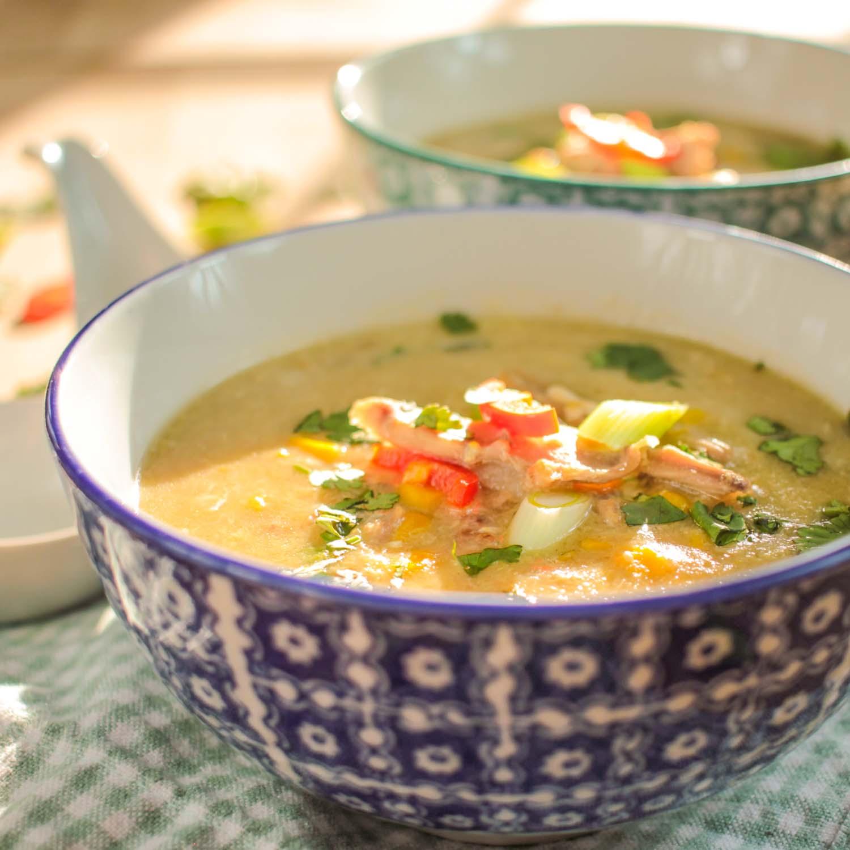 Duck and Sweetcorn Chinese Style Soup-7 - Globe Scoffers | globescoffers.com
