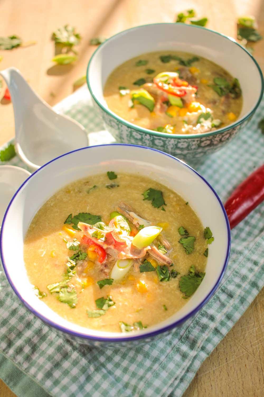 Duck and Sweetcorn Chinese Style Soup-8 - Globe Scoffers | globescoffers.com
