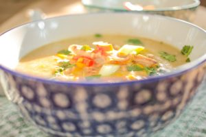 Duck and Sweetcorn Chinese Style Soup