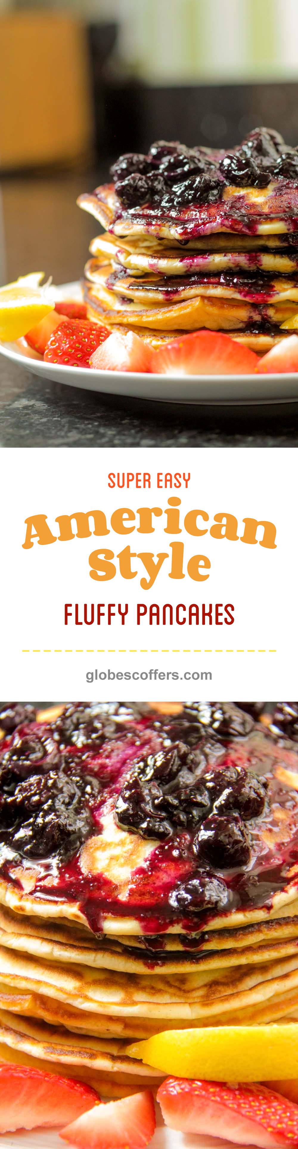 Super easy american style fluffy pancakes recipe globe scoffers 0shares forumfinder Images